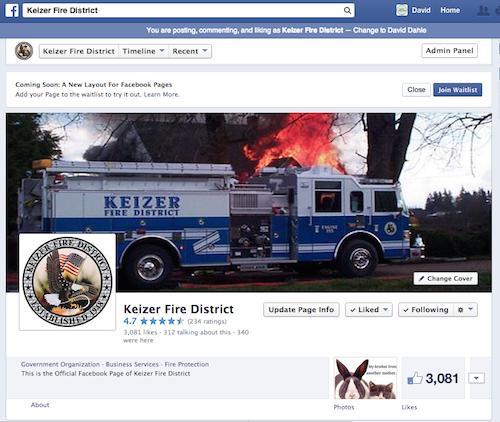 Keizer Fire Facebook