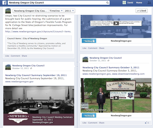 Videos on newberg Facebook